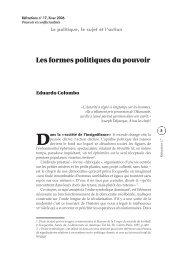 Les formes politiques du pouvoir - Réfractions