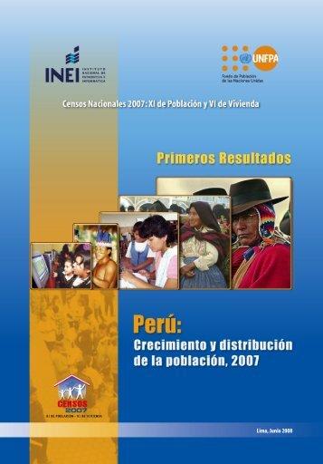 Censos Nacionales 2007: XI de - Inei