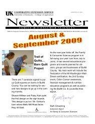 August/September 2009 Newsletter - Bullitt County Cooperative ...