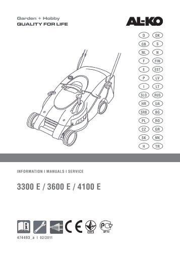 3300 E / 3600 E / 4100 E - AL-KO