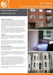 EC London Economy Shared Apartments