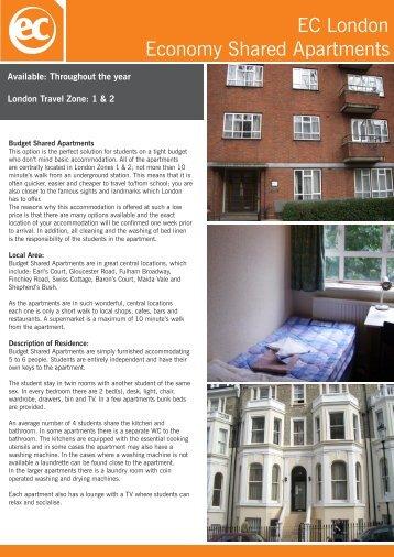 EC London Economy Shared Apartments