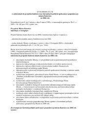 I N F O R M A C J A  o założeniach do projektu ... - BIP UM Katowice
