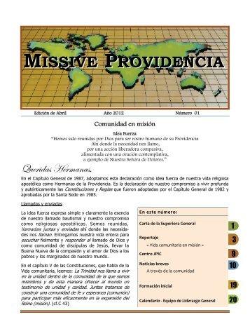 Missive Providencia Abril 2012 - Les Soeurs de la Providence