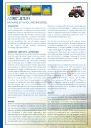 Agriculture - methane, ethanol and biodiesel :Layout 1 - Biblon