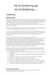 Projektplan tid till förbättring.pdf - Vara kommun