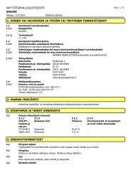 KÄYTTÖTURVALLISUUSTIEDOTE GALERA 1 ... - K-maatalous