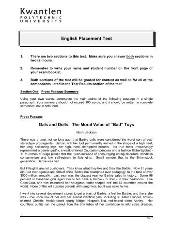 compass test scores essay The act compass test is a placement test that  writing skills, essay  colleges use a student's scores on their compass test to place the student in the.