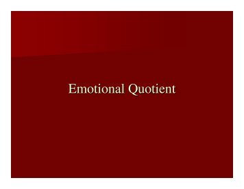 Emotional Quotient - Tripod