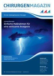 chirurgenmagazin - Praxis für Plastische Chirurgie und Handchirurgie