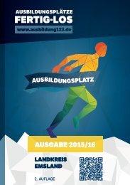 Ausbildungsplätze - Fertig - Los | Landkreis Emsland Ausgabe 2015/16