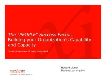 """""""PEOPLE"""" Success Factor: Building your Organization's Capability ..."""