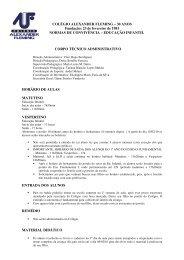 EDUCAÇÃO INFANTIL CORPO - Colégio Alexander Fleming
