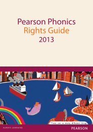 Pearson Phonics Rights Guide 2013 - Pearson Global Schools