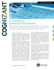 A Framework for Commercial Transformation - Cognizant