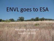 ENVL goes to ESA