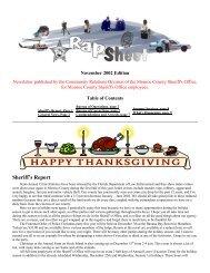 November 2002 Edition - Monroe County Sheriff's Office