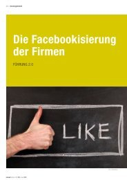 Die Facebookisierung der Firmen