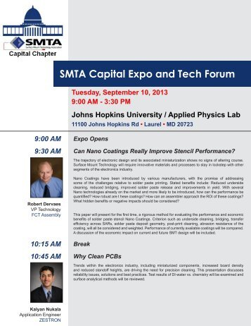 Download the event flyer here. - SMTA