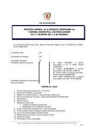 Procès-verbal du 17.02.2011 - Site officiel de la Mairie d ...