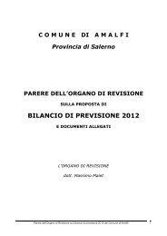 La Relazione dell'Organo di Revisione Contabile - Comune di Amalfi