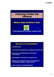 Enhancing Fertilizer Use Efficiency