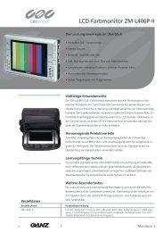 LCD-Farbmonitor ZM-L406P-II - CBC CCTV