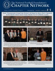 Volume 9, Issue 6 - National Football Foundation