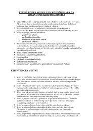 etický kódex sestry, etické požiadavky na zdravotnickeho pracovníka ...
