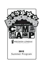 2012 - Wisconsin Lutheran High School