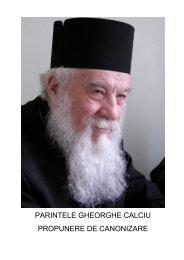 PARINTELE GHEORGHE CALCIU PROPUNERE DE CANONIZARE
