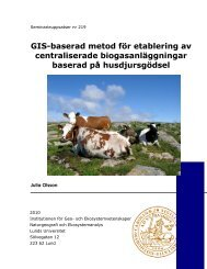 GIS-baserad metod för etablering av centraliserade ...