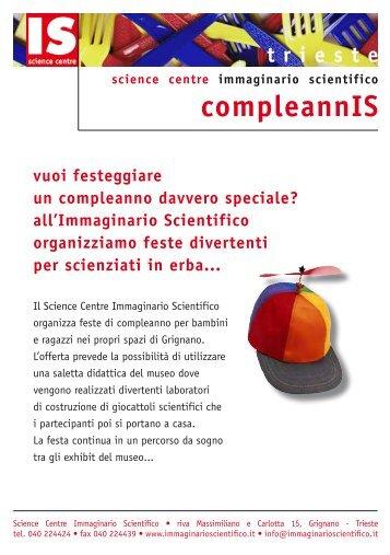 info Compleannis TS - Immaginario Scientifico