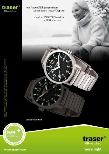 more light. - Traser H3 Watches