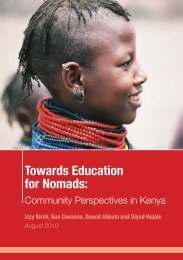 Towards Education for Nomads: - IIED pubs - International Institute ...