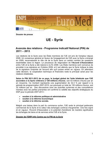 UE - Syrie - EU Neighbourhood Info Centre