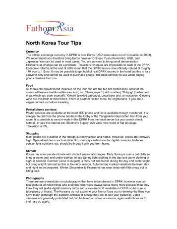 North Korea Tour Tips - FathomAsia
