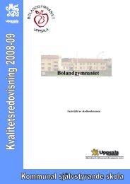 1 Presentation av skolan - Bolandsskolan - Uppsala kommun