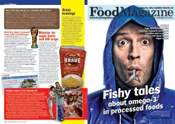 Fishy tales about omega-3 in processed foods - The Food Commission