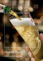 Download the SABMiller plc 2009 Annual report PDF