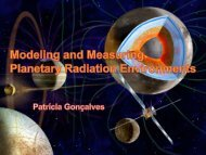 Modeling and Measuring Planetary Radiation Environments - centra