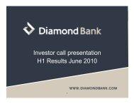 Investor call presentation H1 Results June 2010 - Proshare