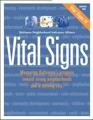 0. VS IV Cover/Section I - the Baltimore Neighborhood Indicators ...