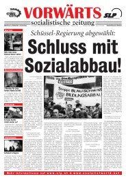 Schüssel-Regierung abgewählt: - SLP