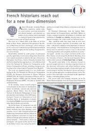 French historians reach out for a new Euro ... - The Europaeum