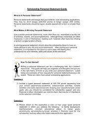Scholarship Personal Statement Guide