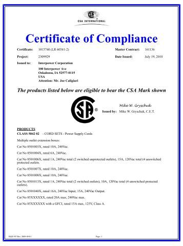 Certificate of compliance pmv positioners for Certificate of compliance template