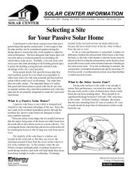Selecting a Site for Your Passive Solar Home - North Carolina Solar ...
