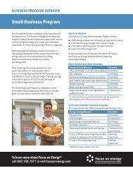 Program from Focus on Energy is helping Small Businesses with ...