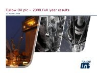 Tullow Oil plc – 2008 Full year results
